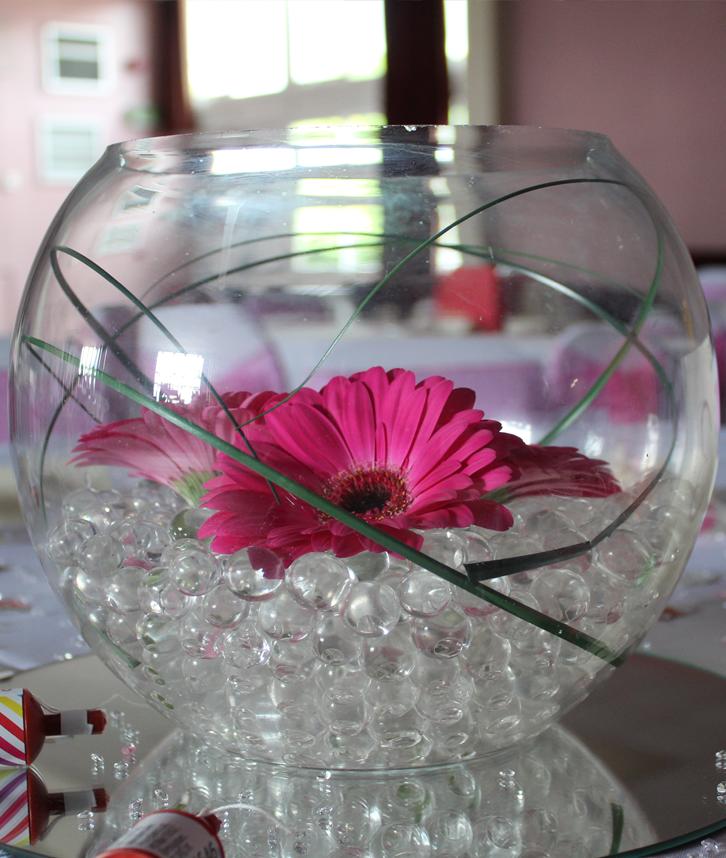 Glass fishbowl