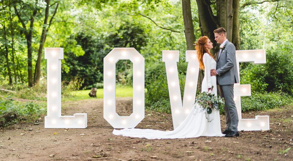 LOVE Letters Hire In Midlands