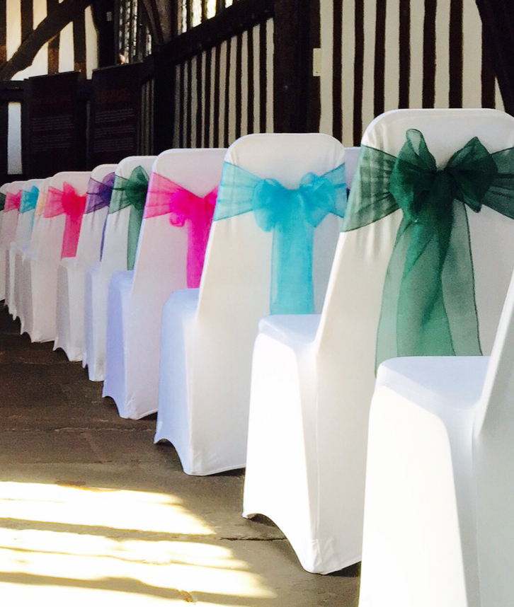 Coloured chair sashes