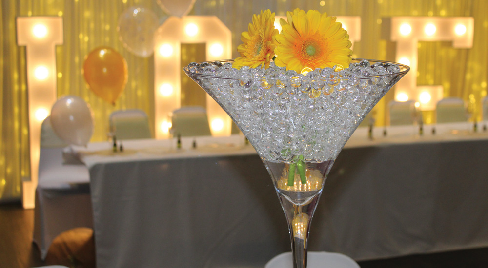 Martini vase for hire