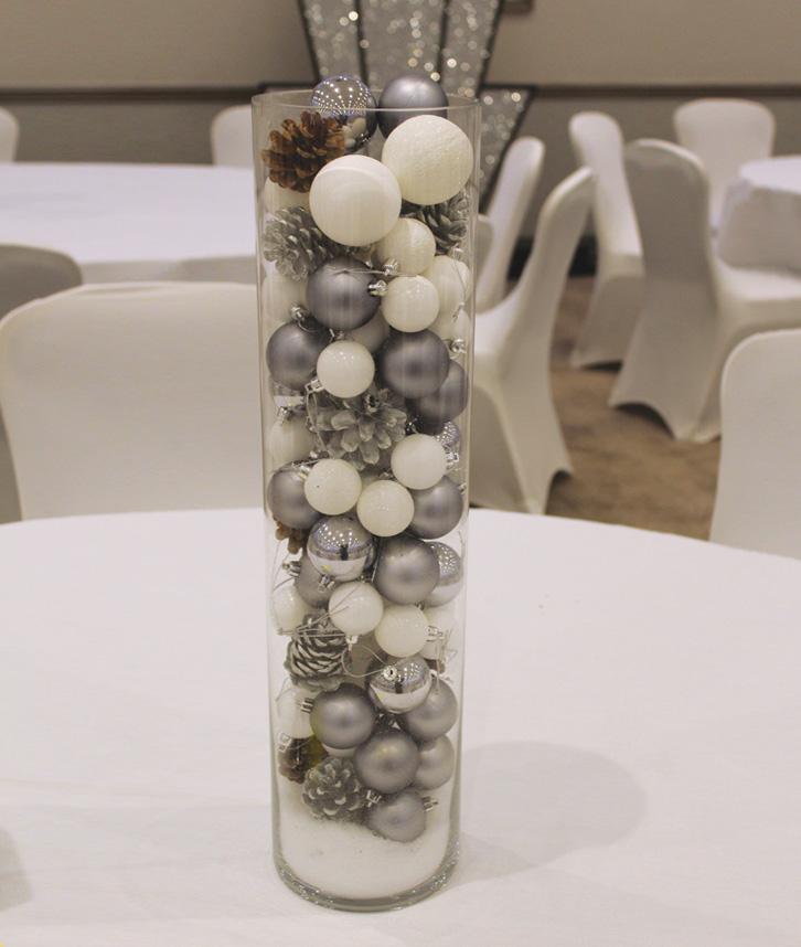 Themed cylinder vase