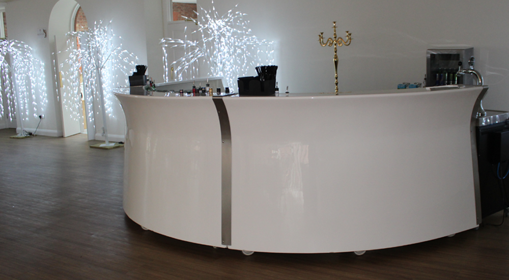 White Gloss Mobile Bar Hire in Leicester