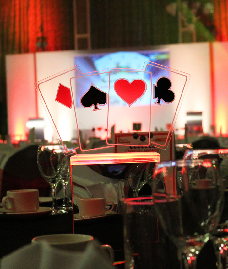 Casino Theme Table Centrepiece