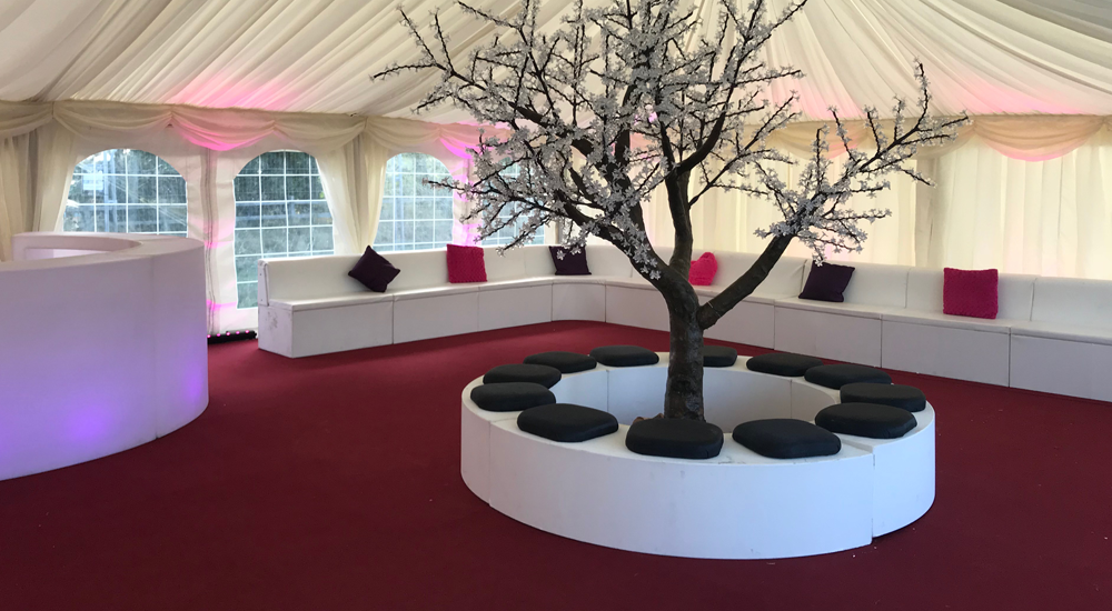 VIP Curved Seating Hire Midlands