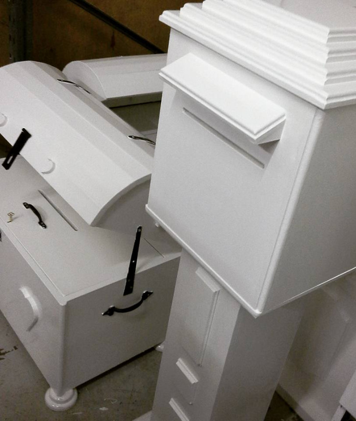 An image of a chest and postbox that is used at parties for guests to post notes into
