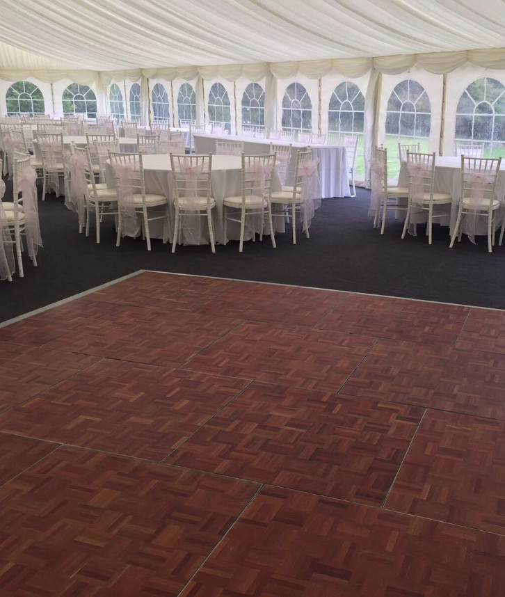 An image of a dance floor that has been hired and installed by Solid State UK