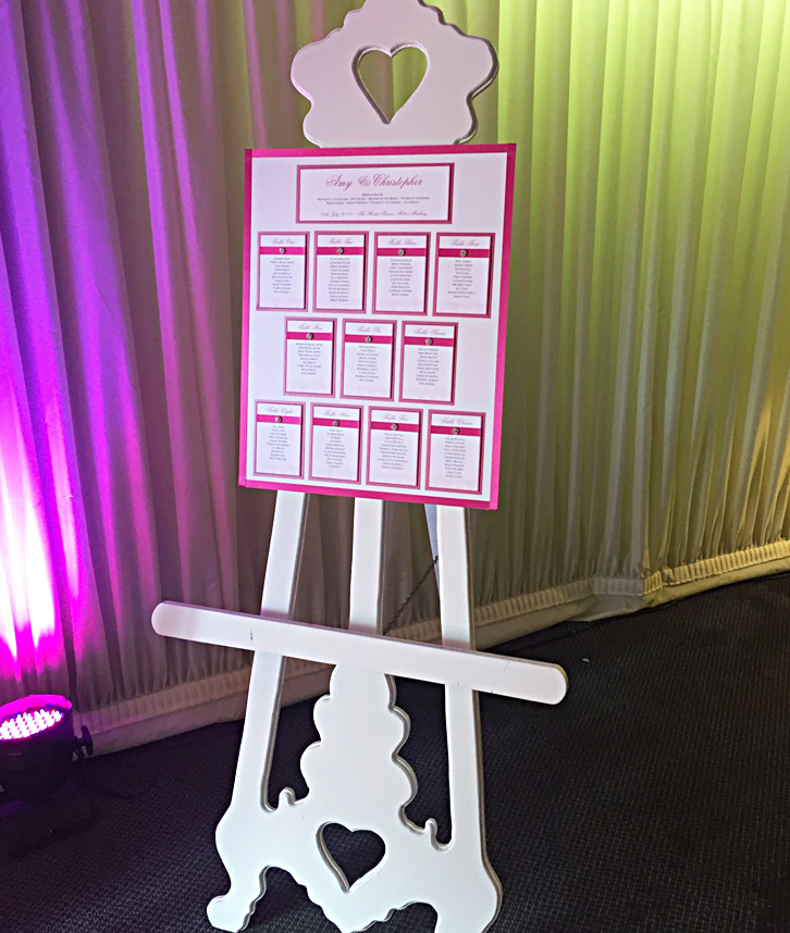 Easel stand hire