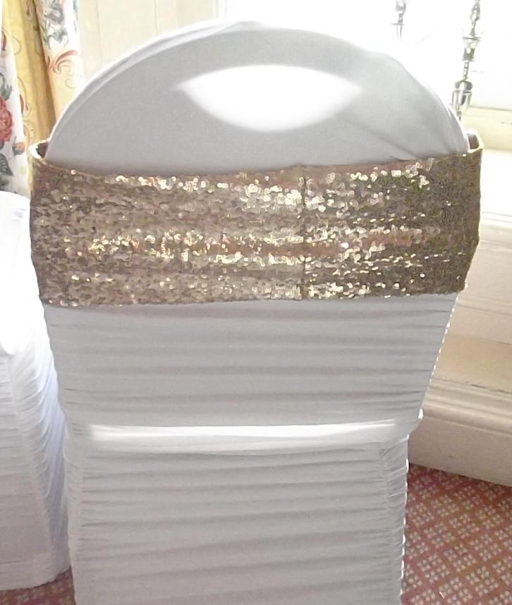 Glitter band sash