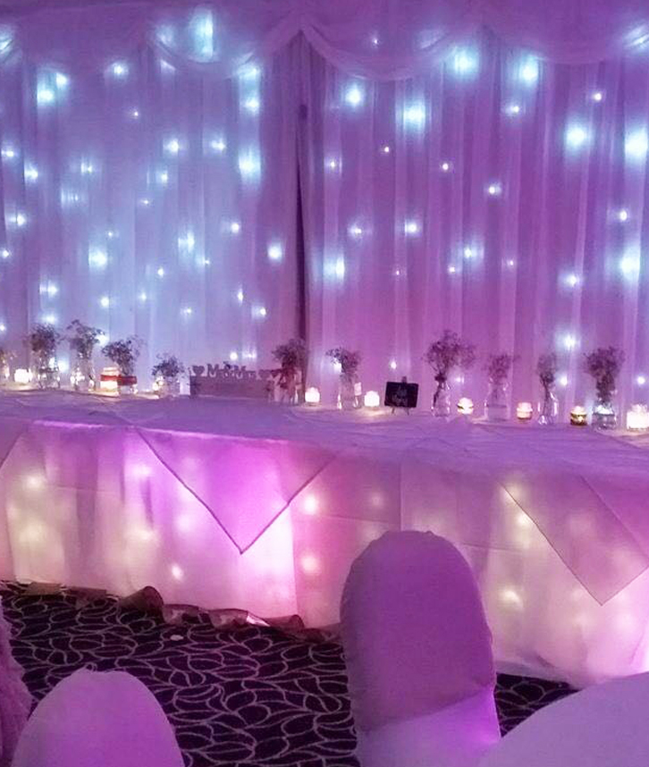 LED backdrops in variety of types