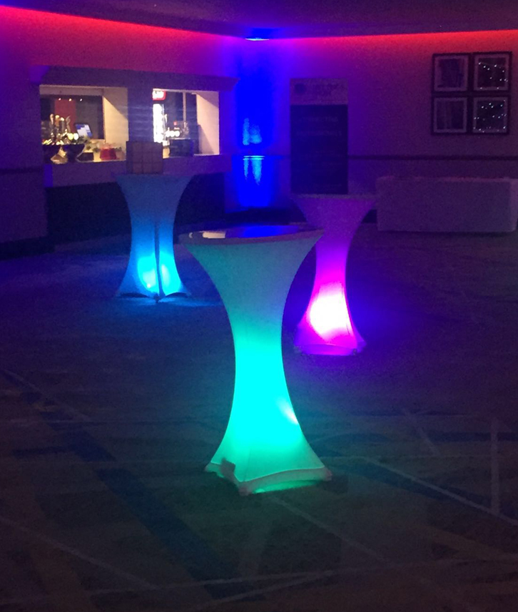LED Poseur table for hire