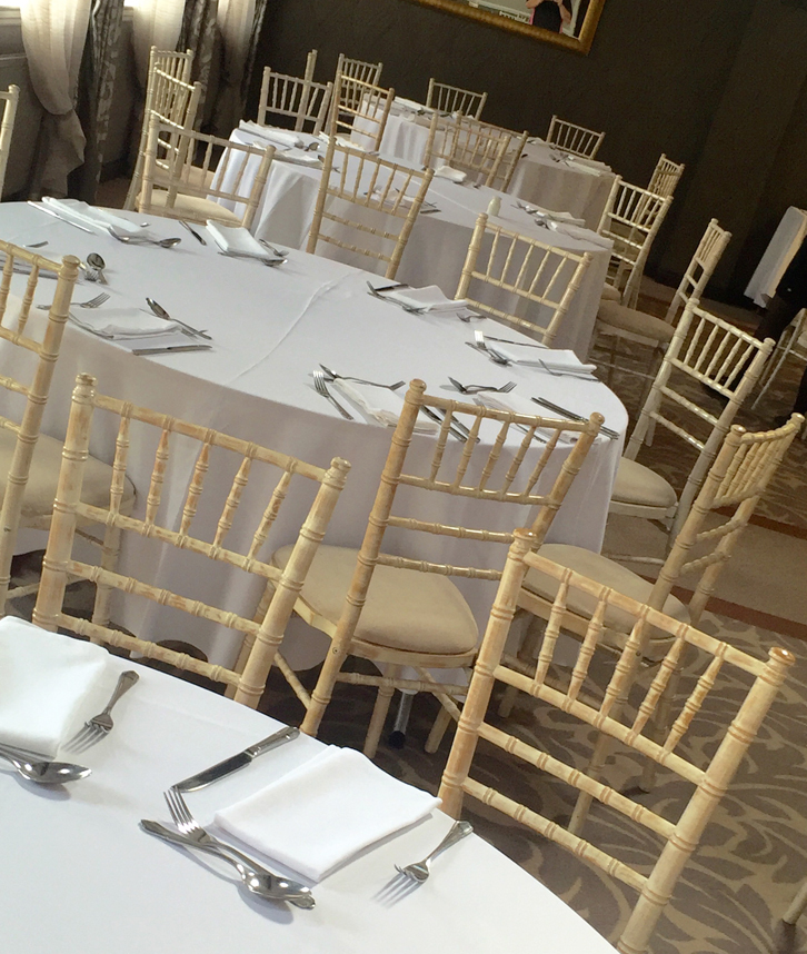 Limewash Chivari Chairs