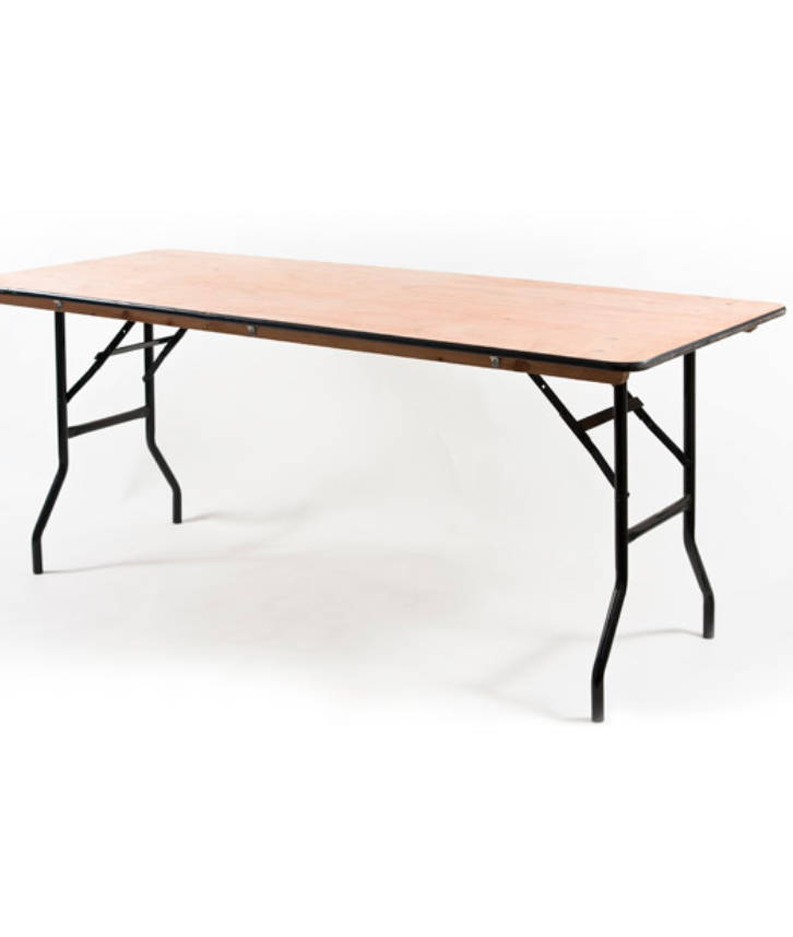 An image of a trestle table that may be used for a variety of events