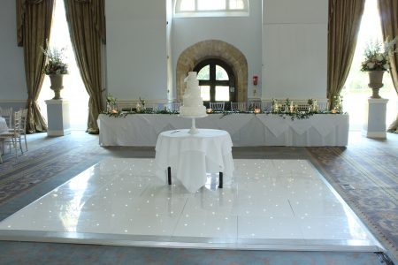 LED dance floor - Stapleford Park Hotel