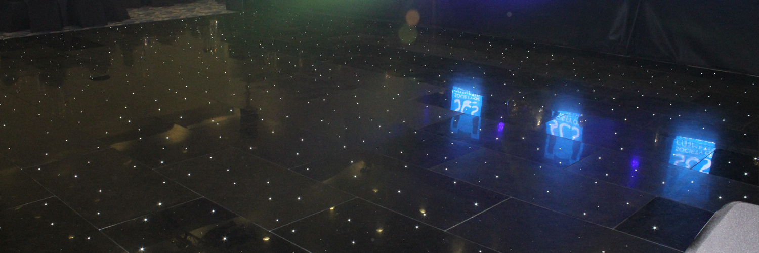 Black LED Dance Floor Hire In Leicester