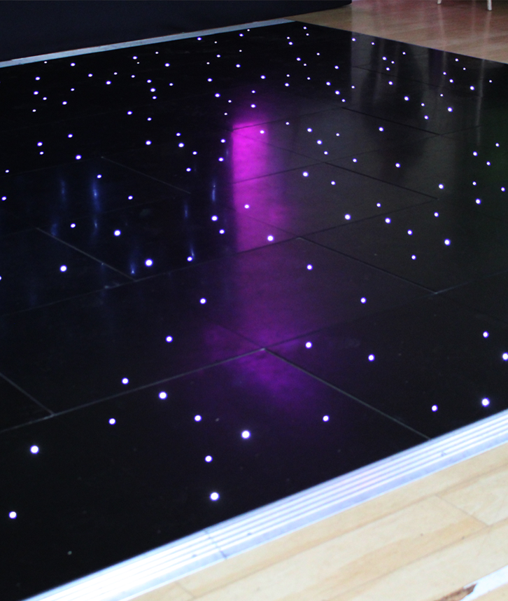Black LED dancefloor hire in leicester