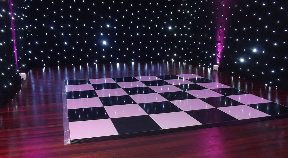 Black & White Dance Floor Hire In Leicester