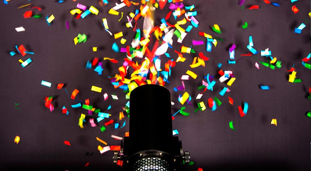 Confetti machine hire in leicester