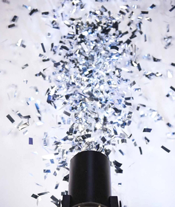 Confetti machine hire in leicester