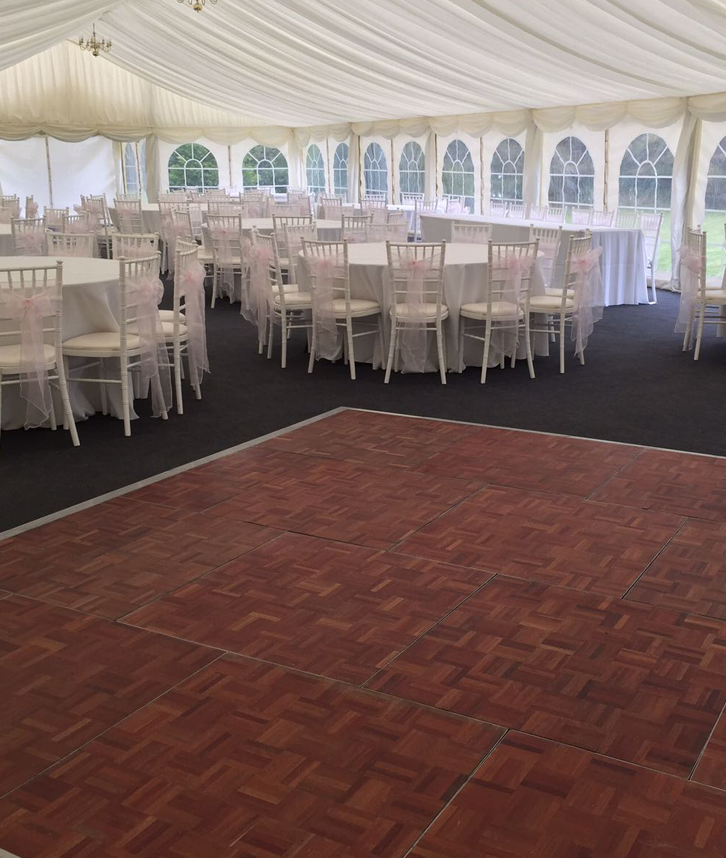 parquet dancefloor hire in leicester