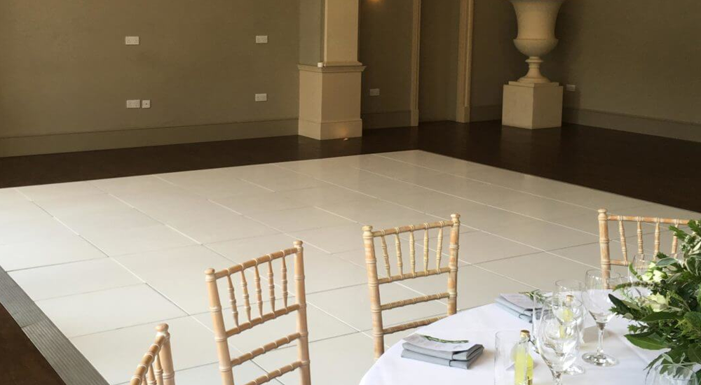 Plain White Dance Floor Hire In Leicester