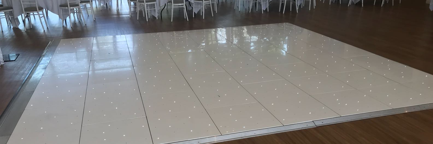 White LED Dance Floor Hire In Leicester