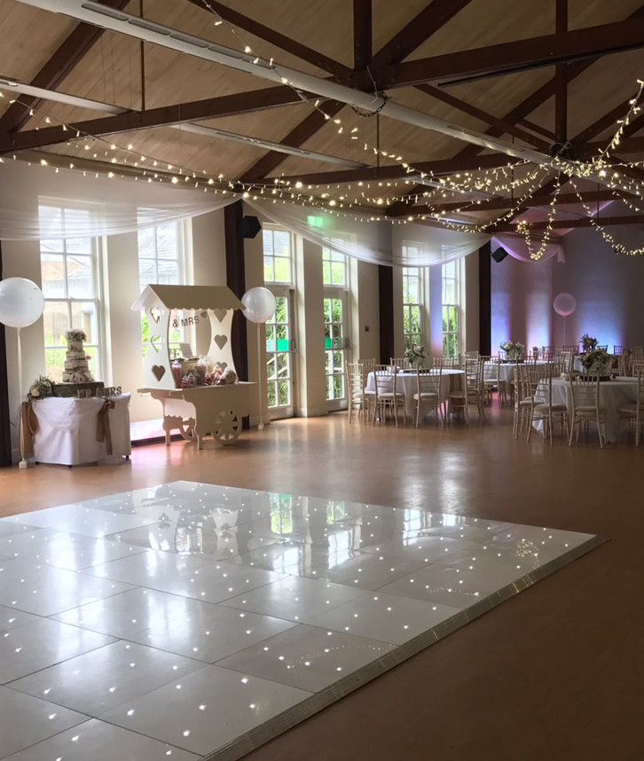 White LED dancefloor hire in leicester