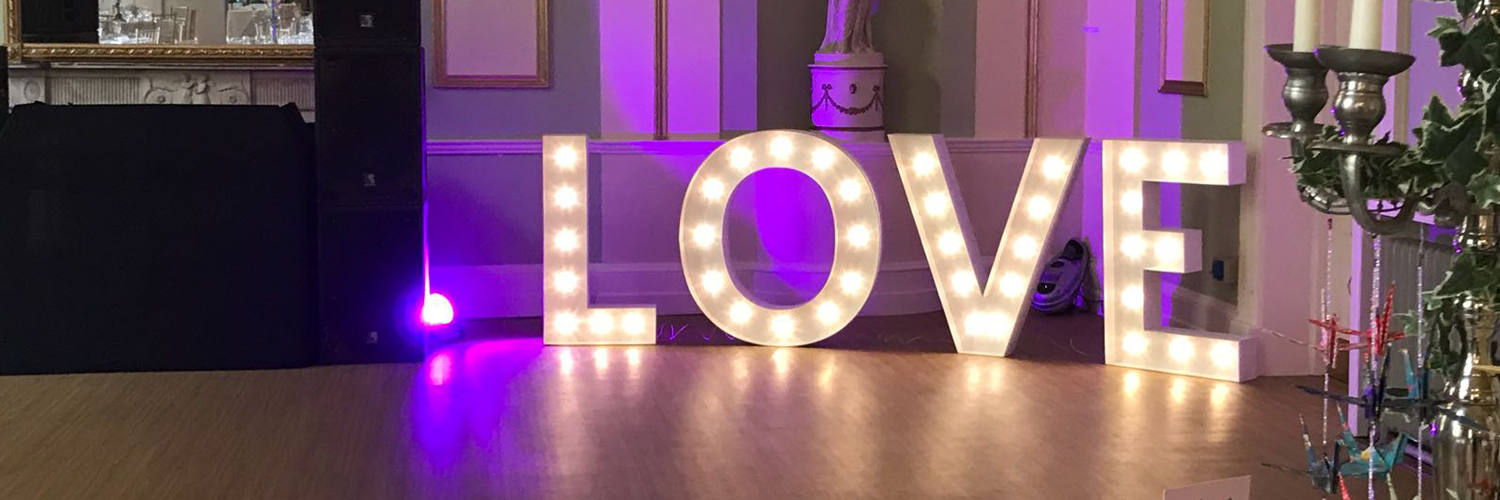 Light Up LOVE Letters Hire in Leicester