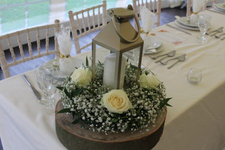 Table Centres at Shearsby Bath
