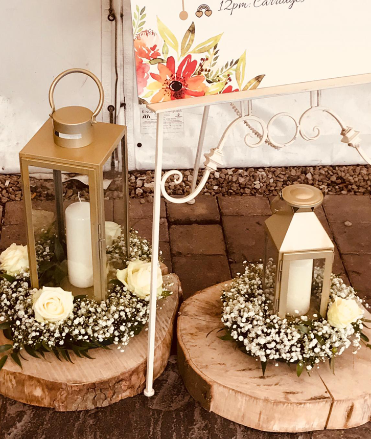 Lantern Wedding Table Centrepiece Hire In Leicester