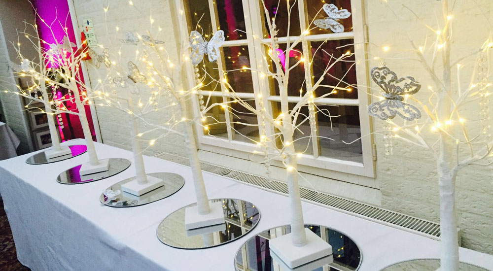 White LED Tree Table Centrepiece