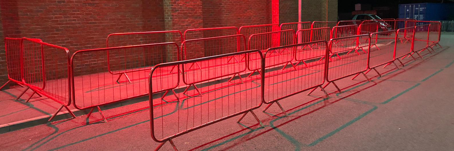 Crowd Control Event Barriers Hire in the Leicester