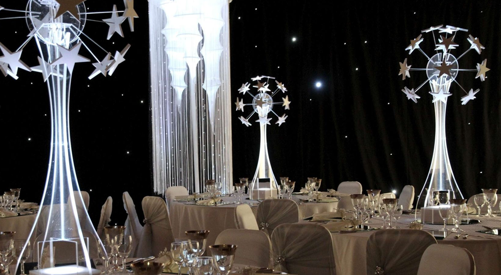 LED Acrylic Table Centrepiece Leicester