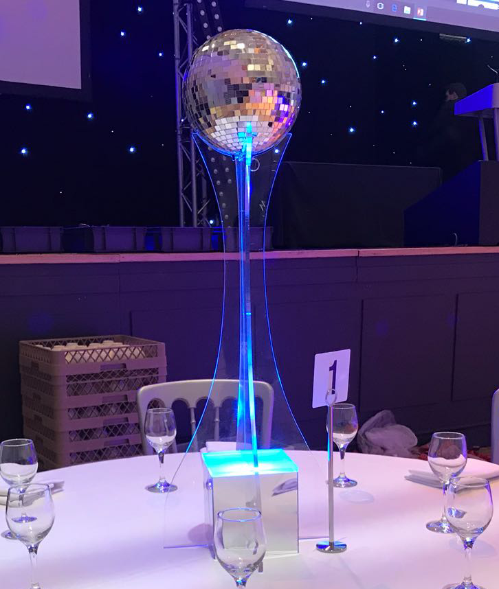 LED Acrylic Table Centrepiece Leicestershire